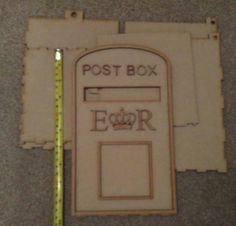Wedding post box mailbox mail box postbox post box wedding a lovely wedding guest book alternative that you can personalise yourself as this is a do it yourself kit you can paint and decorate it to your wedding solutioingenieria Choice Image