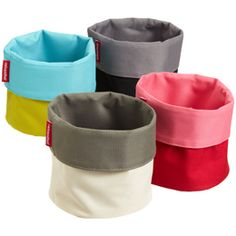 Cuffed Fabric Bin