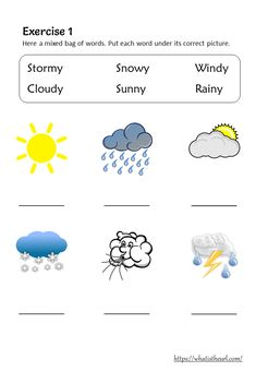 Weather Vocabulary and Worksheets for Grade 1 - Your Home Teacher 1st Grade Worksheets, English Worksheets For Kindergarten, Kindergarten Reading Activities, Science Worksheets, Weather Vocabulary, Teaching Weather, Preschool Weather, English Activities For Kids, Learning English For Kids