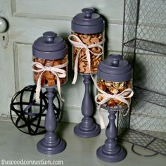 Candlestick Candy Jars | The Wood Connection Blog