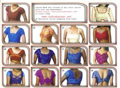 Sari Blouse Patterns | Lot of Sari blouse pattern u can order with your own measurment and ...