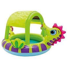 Oferta: 12.5€. Comprar Ofertas de Intex - Piscina hinchable para bebe, 188 x 147 x 104 cm, 114 l, diseño caballito mar (57110NP) barato. ¡Mira las ofertas!