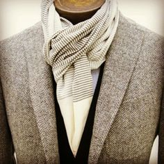 Few scarves are worn well enough with a blazer to vindicate their presence. Meet one that does.