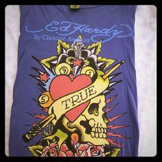 Ed Hardy t-shirt XXL Ed Hardy t-shirt.   Bluish grey color. Ed Hardy Tops Tees - Short Sleeve