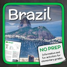 Let's explore Brazil with puzzles and other fun activities. This supplemental resource is great for a country unit.The 13 page printable handles several things that Brazil is famous for, including: - Carnival- Christ the Redeemer- The Amazon- Rio de Janeiro- Favelas- Tribes Overview: Page 1/2: IntroductionPage 3: AttractionsPage 4/5: CarnivalPage 6: Christ the RedeemerPage 7: FavelasPage 8/9: AmazonPage 10/11: TribesPage 12: Word SearchPage 13: RevisionThe answers and an answer sheet are…