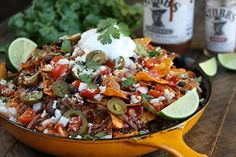 The Slow Cooker does all the hard work with these amazingly delicious LOADED Brisket Nachos! Slow Cooker Recipes, Beef Recipes, Cooking Recipes, Smoker Recipes, Game Day Snacks, Game Day Food, Quesadillas, Burritos, Quesadilla