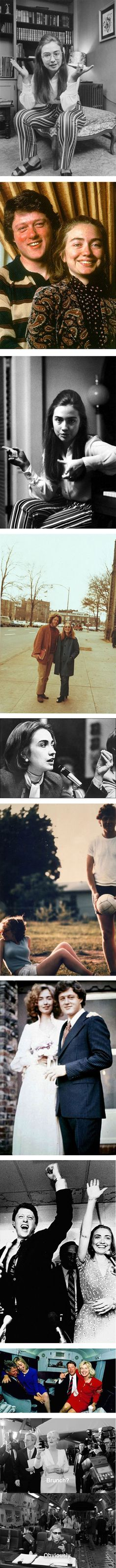 Hilary Clinton's style evolution from 1970-2015 via Nuji.com