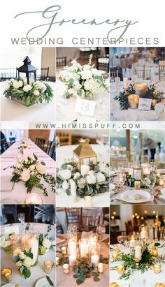 Fine 20 Greenery Wedding Centerpieces You'll Love greenery wedding color ideas -greenery wedding centerpieces -. Wedding Table Centerpieces, Wedding Flower Arrangements, Flower Centerpieces, Wedding Decorations, Table Decorations, Centerpiece Ideas, Wedding Backdrops, Flowers Decoration, Wedding Tables