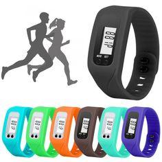 Perfect Gift Digital LCD Pedometer Run Step Walking Distance Calorie Counter Watch Bracelet levert dropship Dec29 #Affiliate