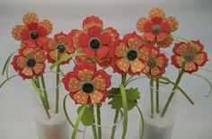 Would be fun to make a bouquet of these as teacher gifts with stems out of pens or pencils.