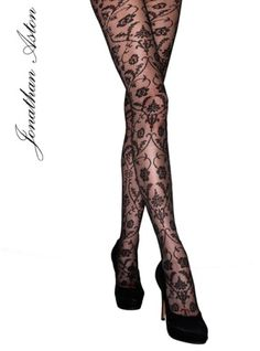Jonathan Aston Spellbound Lace Baroque Tulle Tights