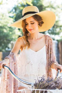Grace Large Floppy Hat. Love this lady's style. Simply great. What a beautiful dress up with an awesome hat.
