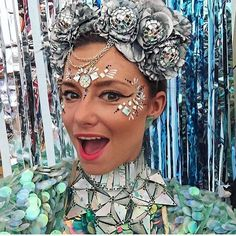 rocking our holographic pyramid choker and at… Festival Fashion, Holographic, Carnival, Chokers, Rock, Painting, Carnavals, Skirt, Painting Art