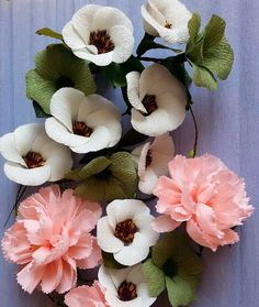 "72 Likes, 3 Comments - Valentina Moraliyska (@valentinasflowers) on Instagram: ""#paper #flowers #decoration #crepepaper"""