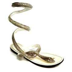 Snake Wrap Sandals (please please please I want these. I think they're awesome)