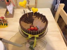 Bolo de Aniversário KIT KAT Coração de Crochê 3D Amigurumi Recheio de morango Recheio de mousse de chocolate] Recheio de creme de 3 leites