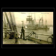 Postcard - Hamburg Harbour 1907 by gregoryolney2 £0.95