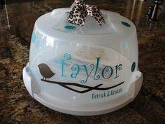 cake carrier in vinyl