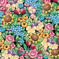 ME Clustered Floral Fabric