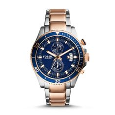 Fossil Wakefield Chronograph Stainless Steel Watch – Two-Tone, CH2954| FOSSIL® Watch Collections
