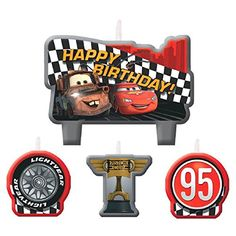 Cars Birthday Candles 4 Count Party Supplies -- Learn more by visiting the image link. Note:It is Affiliate Link to Amazon.
