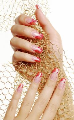 #Red beautiful fingernails.