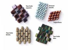 Shaped beads woven using even-count peyote stitch ~ Seed Bead Tutorials