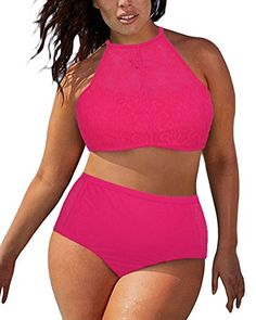 Red Patterned Mesh Insert Plus Size ww sexy com swimwear bikini Plus Size Bikini Bottoms, Women's Plus Size Swimwear, One Piece Swimwear, Haut Bikini, Bikini Set, Maternity Swimwear, Plus Size Kleidung, Pink Swimsuit, Plus Size Summer