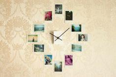 15 Creaciones propias para tus Paredes - Crea un Reloj de Pared con fotos de Instagram.