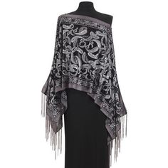 Pewter Paisley Scarf Top - New Age & Spiritual Gifts at Pyramid Collection