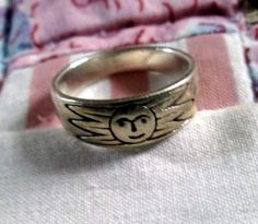 RING   SUN  FACE  Band  Sterling Silver   Vintage  by MOONCHILD111 https://www.etsy.com/shop/MOONCHILD111