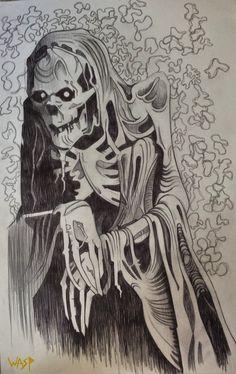 Grim reaper gothic art industrial punk horror macabre death skeleton grim reaper gothic art industrial punk horror macabre halloween decay steampunk creepy detailed drawingsdrawings voltagebd Images
