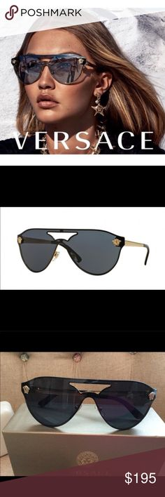 dd5cddd673d7 Versace 2161 Sunglasses Gold and Black Beautiful BRAND NEW pilot shades by  Versace! Never worn