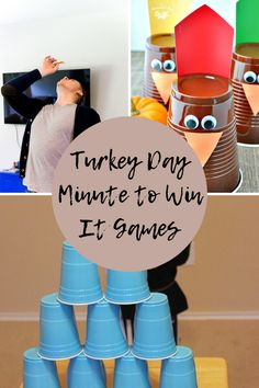 Festive Fall Minute to Win It Thanksgiving Games - Peachy Party