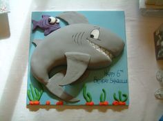 shark birthday cake | 2D Shark [5797] : Karens Cakes, - Master Confectioners and Bakers of ...