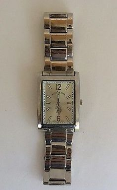 Used U.S. Polo Assn. Men's Stainless Steel Watch Large Rectangular Battery