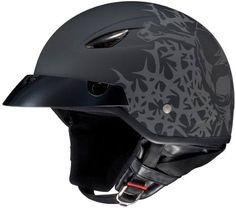 AFX FX88 Flat Black Motorcycle Half-Helmet Harley Honda Suzuki Kawasaki Yamaha