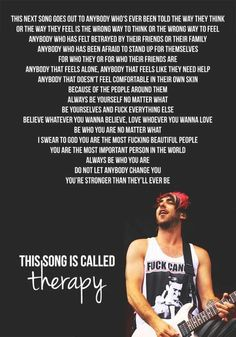 All time low - Therapy. ♥