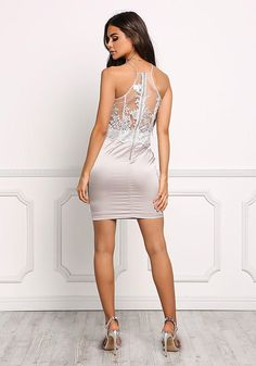 Elegantly smooth in this silver tulle satin embroidered shift dress she stopped the moment from speculating about all manner of things with but one glance over her shoulder! Woods, Keeper of Stories Cool Summer Outfits, Sexy Legs And Heels, Satin Slip, Body Con Skirt, Junior Outfits, Tight Dresses, Elegant Woman, New Dress, Sexy Women