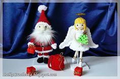 Lalka Crochetka: Christmas Angel and Santa Claus . Christmas Decorations, Christmas Ornaments, Holiday Decor, Everyday Happy, Crochet Projects, Crochet Ideas, Knit Or Crochet, Christmas Angels, Santa