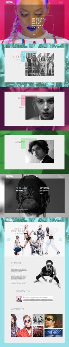 Kruzheva Music Web Design on Behance | Fivestar Branding – Design and Branding Agency & Inspiration Gallery