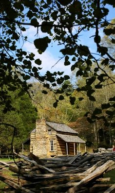 The historic John Oliver Cabin in Cades Cove---He was one of the first to start a new life here in the early 1800's!!
