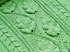 Вязание Листочка Спицами - узоры - 2016 / Knitting spokes leaf / Stricke...