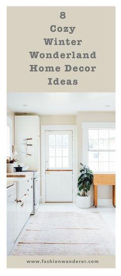 8 Cozy Winter Wonderland Home Decor Ideas-FashionWanderer #HomeDecorIdeas