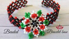 Bracelet with 3D beaded flower - tutorial (part 2)