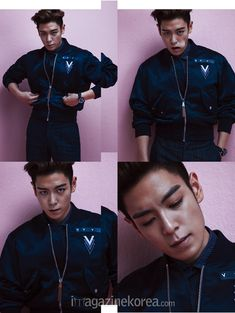 Big Bang's T.O.P looked effortlessly charismatic in the May issue of Esquire despite being a self-proclaimed intorvert. Seungri, Top Bigbang, Korean Boy Bands, South Korean Boy Band, Korean Guys, Big Bang Kpop, Bang Bang, G Dragon Top, Top Choi Seung Hyun