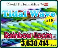 Rainbow Loom #16 Tidal Wave Bracelet By TutorialsByA