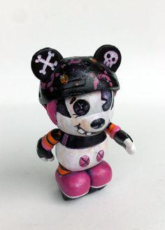 Roller Derby Vinylmation Mickey Mouse ~ www.ChrisBrett.ca ~ Art of Chris Brett