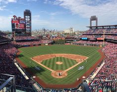 Opening Day from up high.