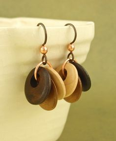 Natural Latte Art Earrings -  The Earth Friendly Side of Chainmaille. $20.00, via Etsy.